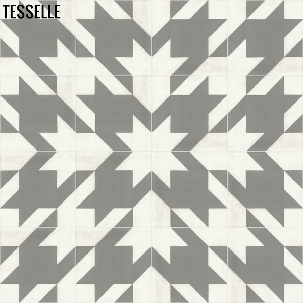 "Baskerville Cashmere 8"" Square Cement Tile Layout 4"