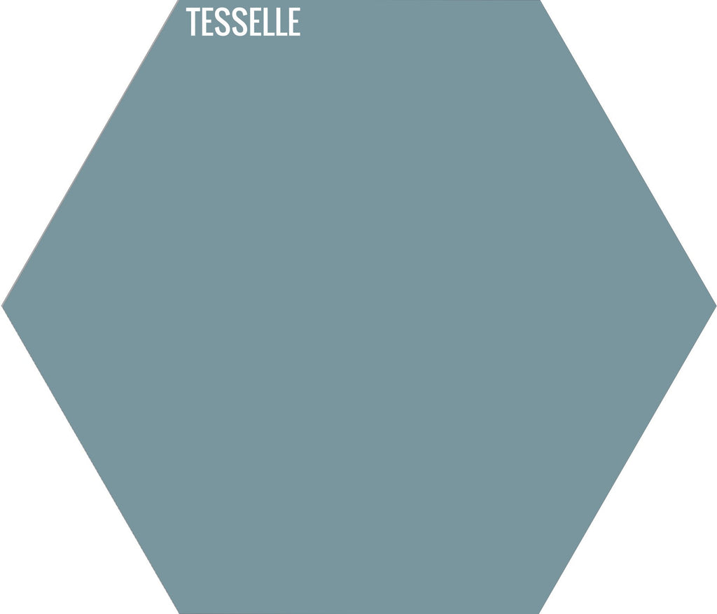 "Bluebell 4030 - 9""x8"" Hexagonal Cement Tile"