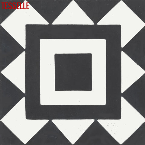 "Bolton Seaton 8"" Square Cement Tile"
