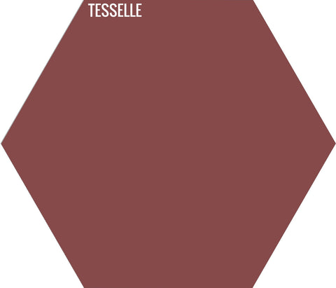 "Brick 5003 - 9""x8"" Hexagonal Cement Tile"