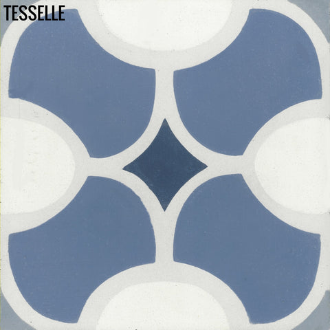 "Cabrillo Oceano 8"" Square Cement Tile"