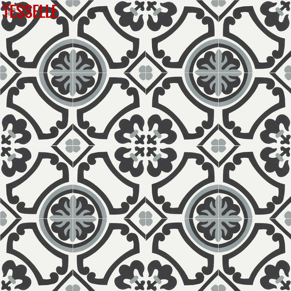"Carmen Martina 8"" Square Cement Tile 1"