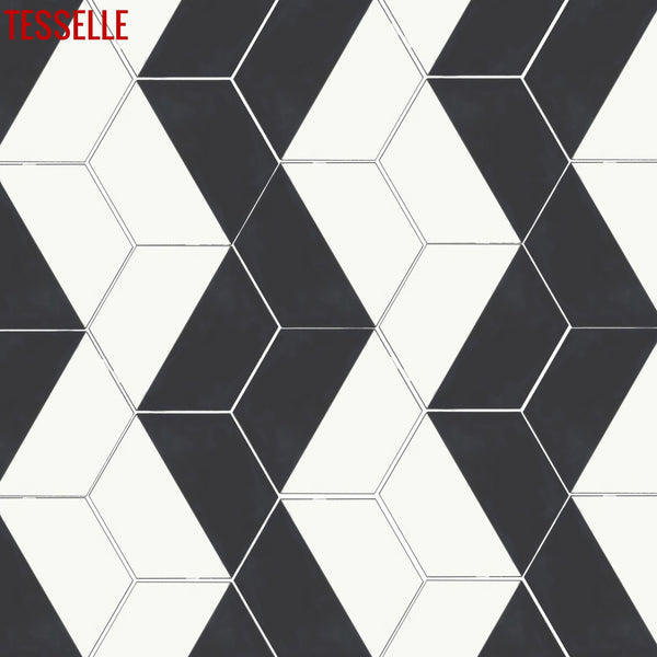 "Casselli Ponte 8"" Square Cement Tile 2"