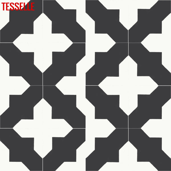 "Catania Mercado 8"" Square Cement Tile 3"