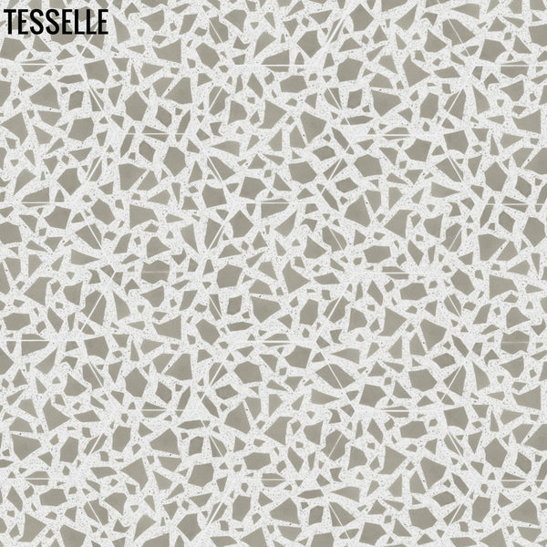 "Celestia Francesca 9x8"" Hexagonal Terrazzo Cement Tile Random Layout"
