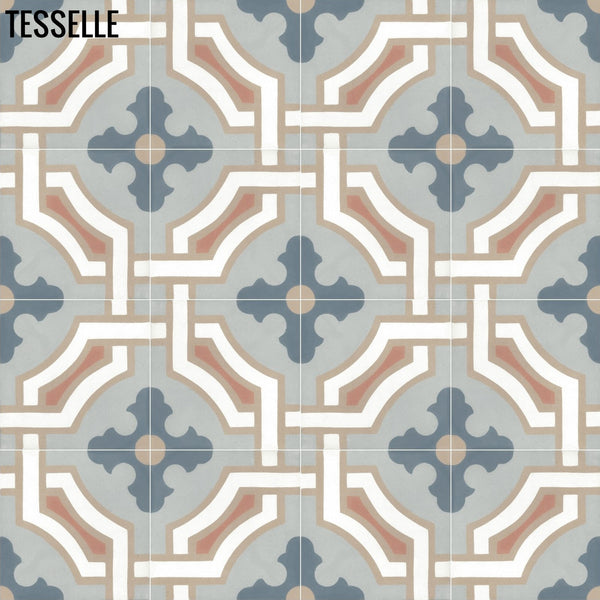 "Chateau Cheverny 8"" Square Cement Tile 1"