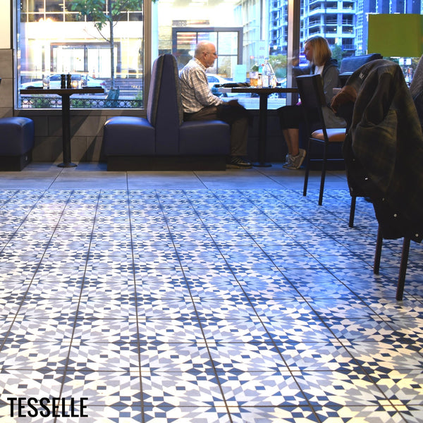 Andalusia Sky Cement Tiles at Circa Restaurant Navy Yard