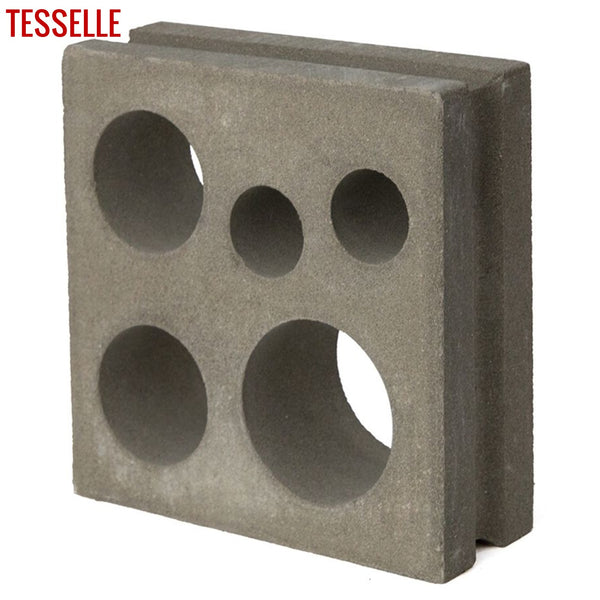 "Circlet Natural Cement 7.5"" Breeze Block 