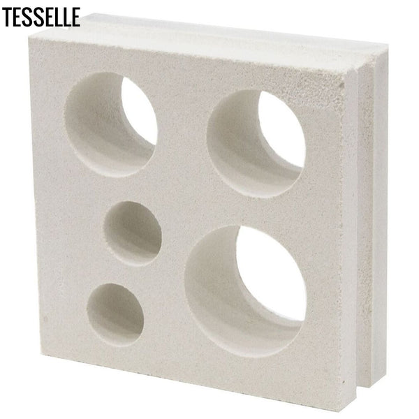 "Circlet Lily White 7.5"" Cement Breeze Block Angle"