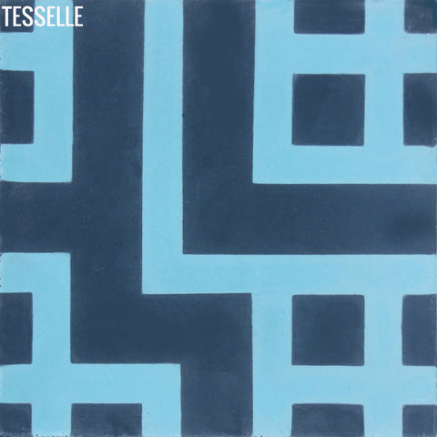 Tesselle Circuit Cement Tile Sample