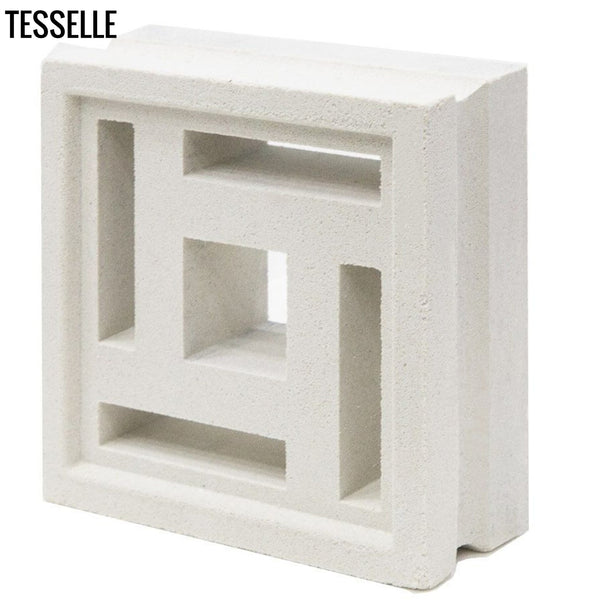 "Complex Lily White 7.5"" Cement Breeze Block"