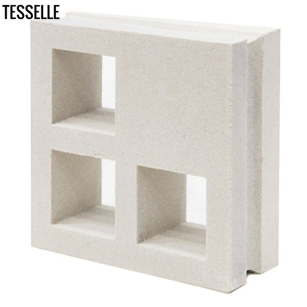 "Concourse Lily White 7.5"" Cement Breeze Block Angle"