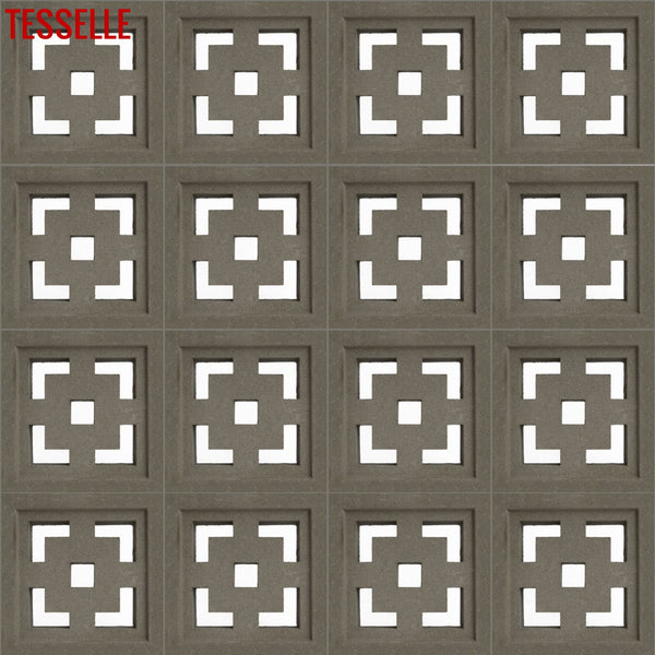"Crossroads Natural Cement 7.5"" Breeze Block 