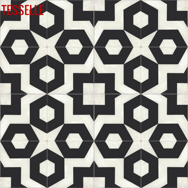 Dekko Carrera cement tiles - 4x4 repeat