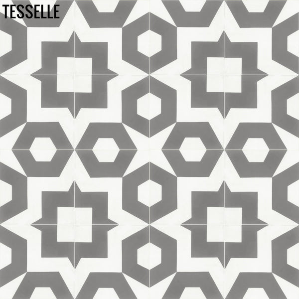 "Dekko 8"" Square Cement Tile - Cornerstone"