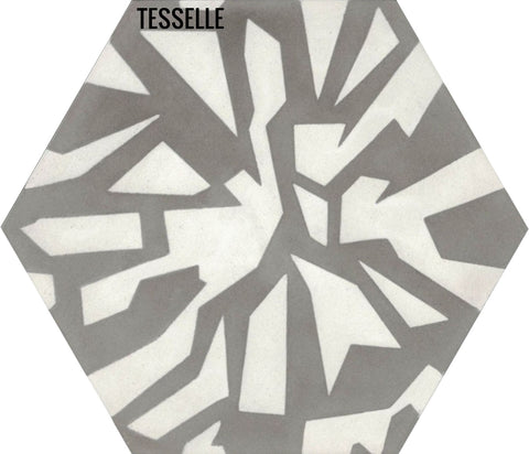Facets Sparkle Cement Tile