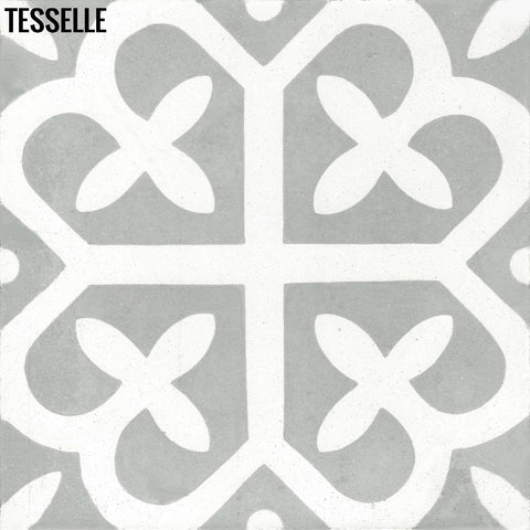 "Filigree Terrace 8"" Square Cement Tile"