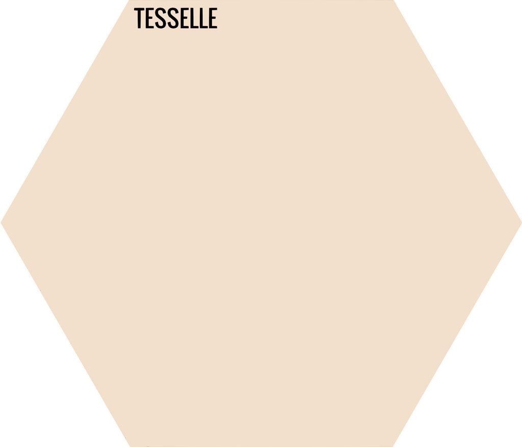 "Flax 9907 - 9""x8"" Hexagonal Cement Tile"