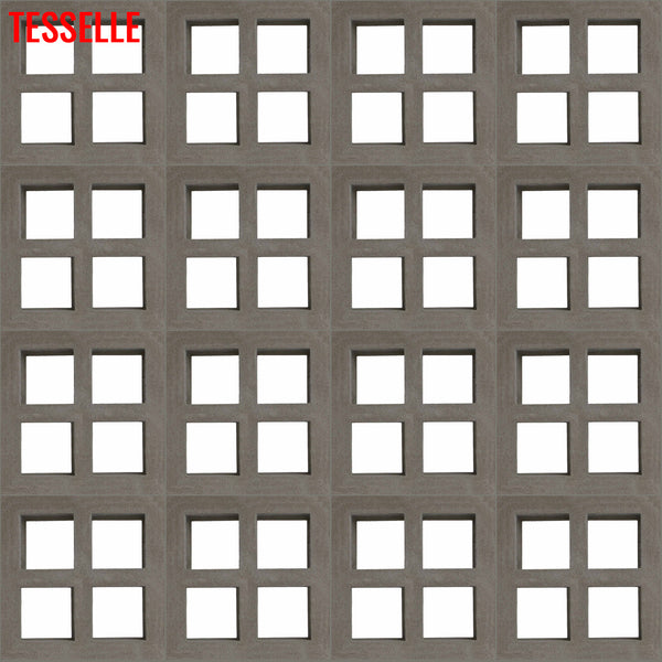 "Foursquare Natural Cement 7.5"" Breeze Block 
