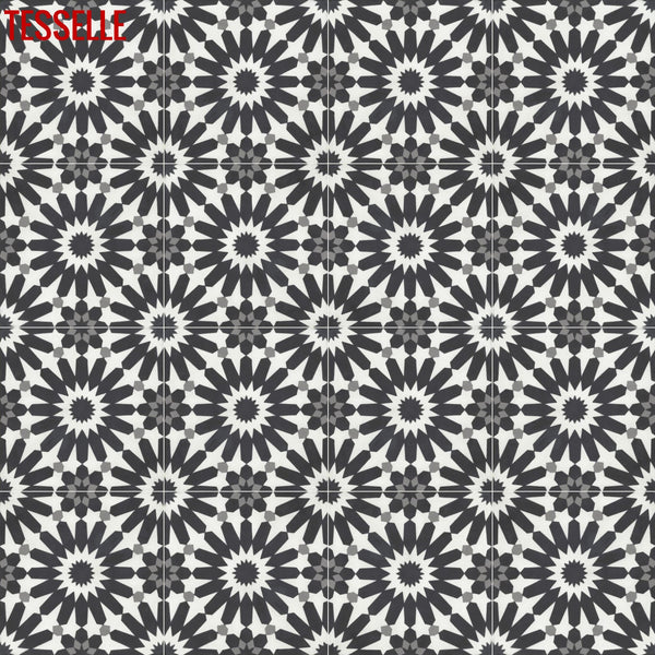 "Frontera Luna 8"" Square Cement Tile"
