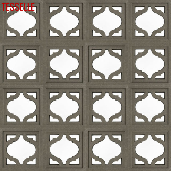 "Glint Natural Cement 7.5"" Breeze Block 