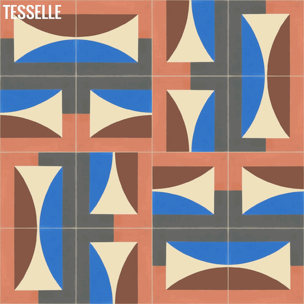 "Hedge Moonrise 8"" Square Cement Tile by Jim Isermann 8"