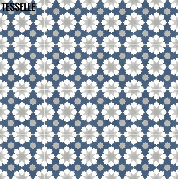 "Helena Andros 8"" Square Cement Tile 1"