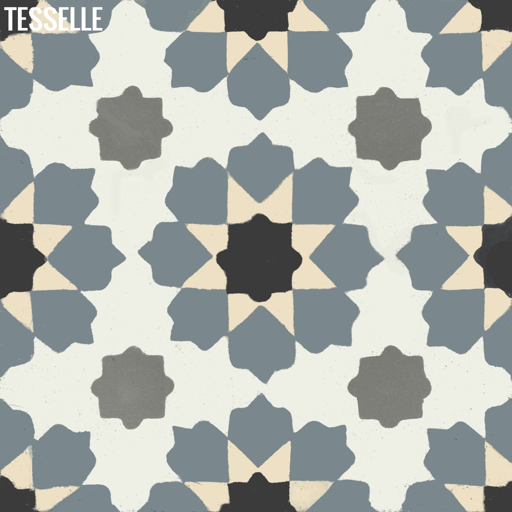 "Helena Kavala 8"" Square Cement Tile"