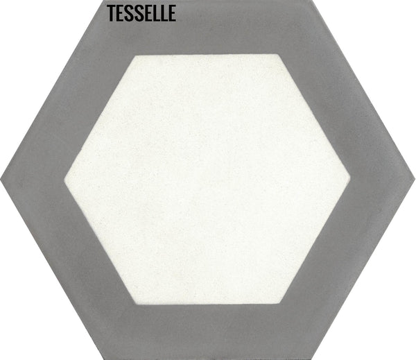 "Honeycomb Boulder 9x8"" Hexagonal Cement Tile"