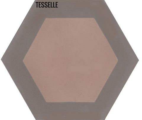 "Honeycomb Cliffside 9x8"" Hexagonal Cement Tile"