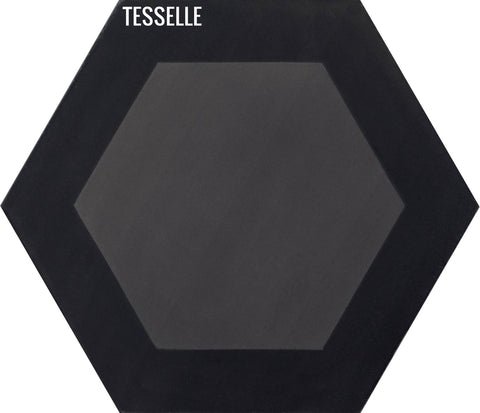 "Honeycomb Obsidian 9x8"" Hexagonal Cement Tile"