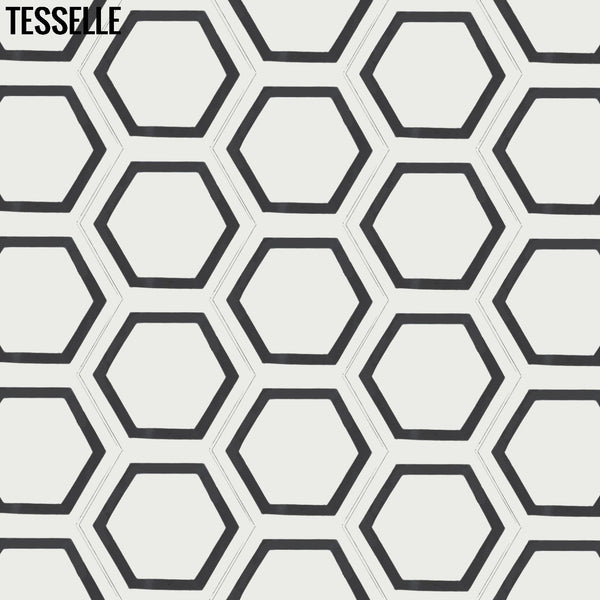 "La Cella Salara 9x8"" Hexagonal Cement Tile 1"