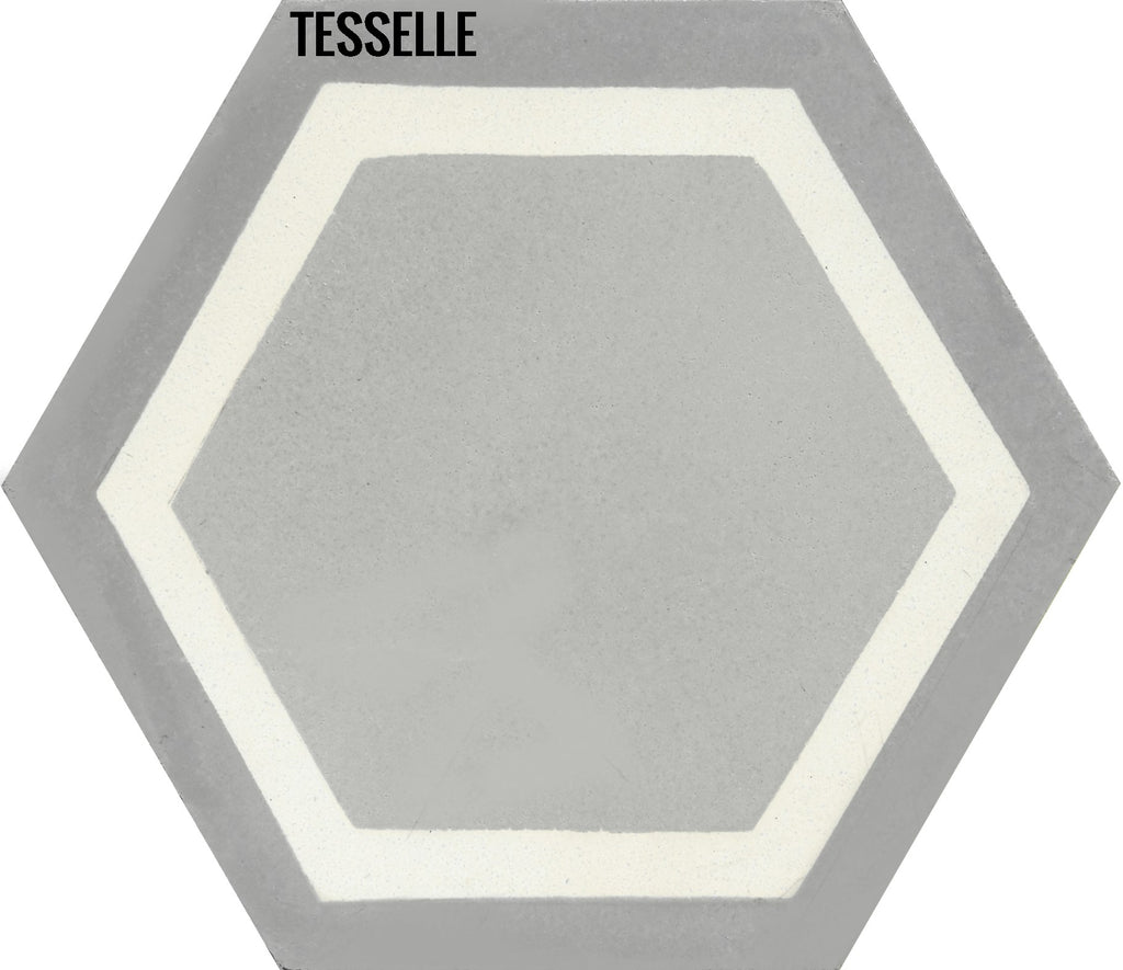 "La Cella Cloudi 9x8"" Hexagonal Cement Tile"