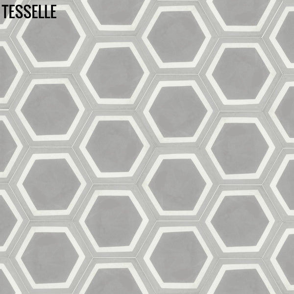 "La Cella Misti 9x8"" Hexagonal Cement Tile 32"""