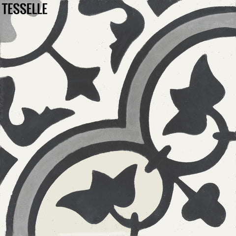"Lyssa Le Bourg 8"" Square Cement Tile"