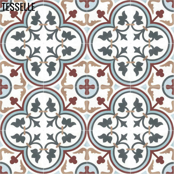 "Lyssa Centro 8"" Square Cement Tile"