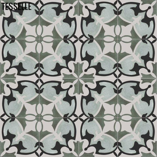 "Mariana Prado 8"" Square Cement Tile 1"