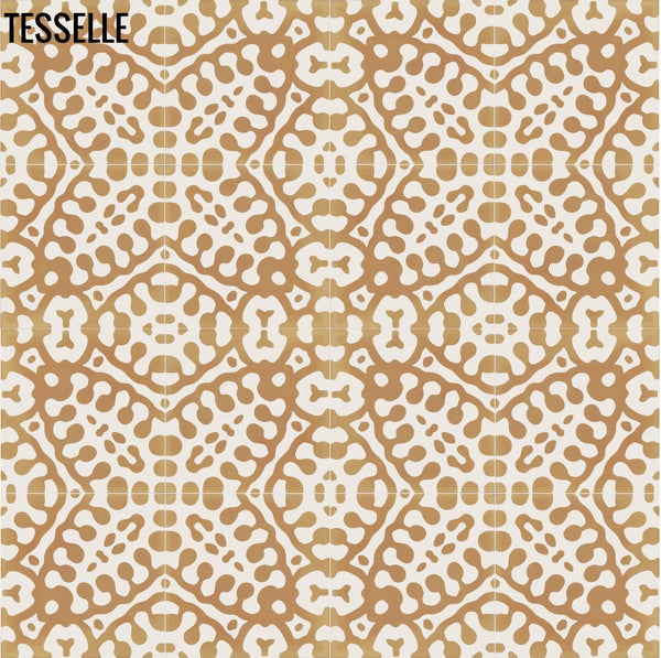"Marikka 8"" Square Cement Tile - Selva Repeat"