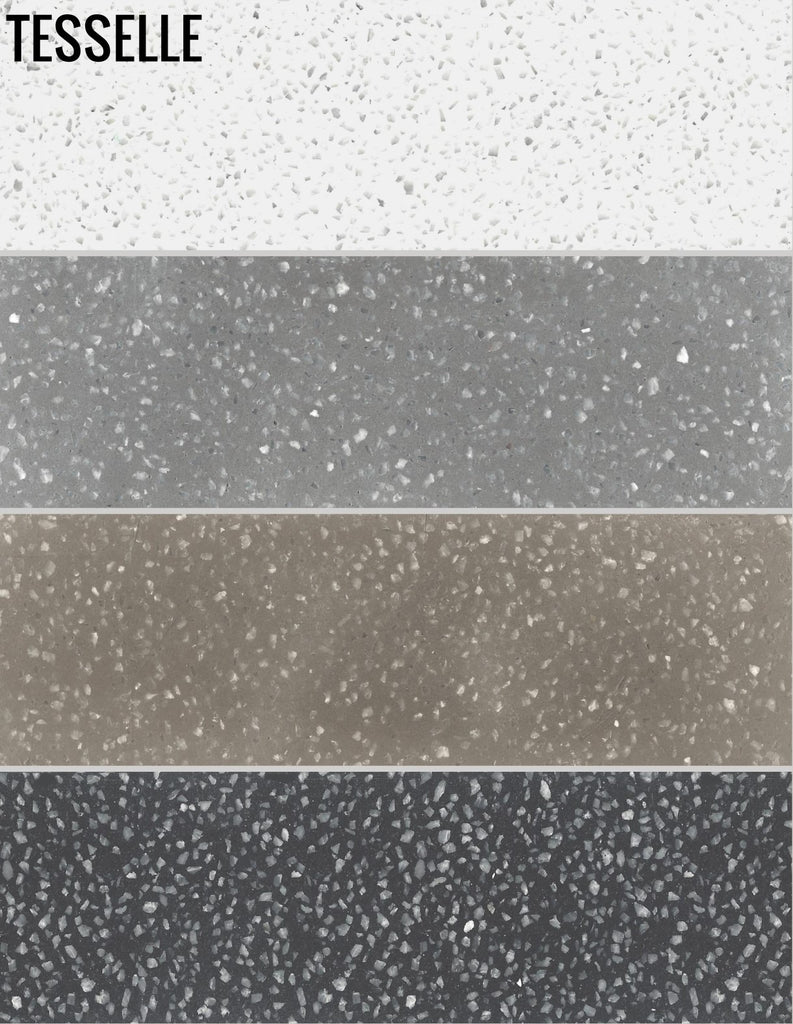 Metro Terrazzo Cement Subway Tile 4 Color Sample Pack 9 99