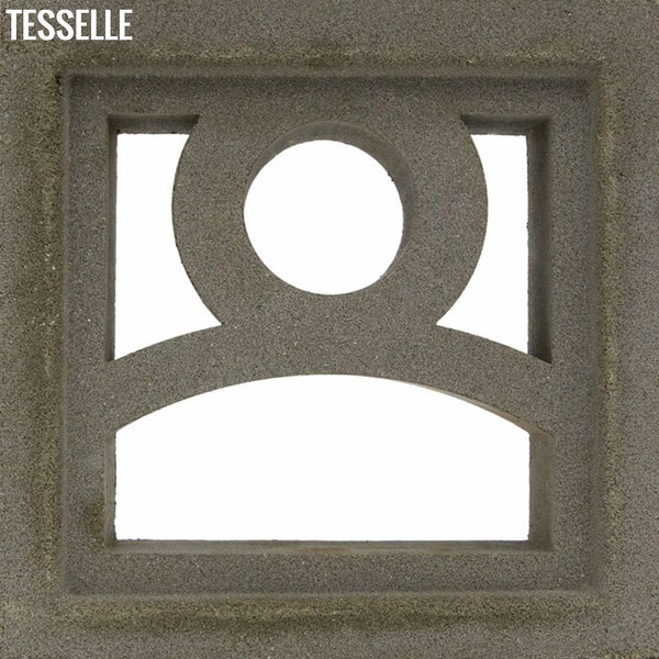 "Moonrise Natural Cement 7.5"" Breeze Block 