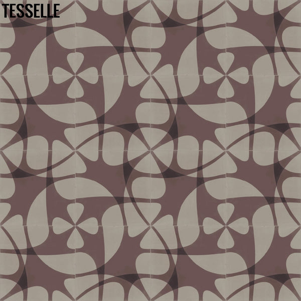 "Nature's Net 8""x8"" Square Cement Tile - Caliba Layout 1"