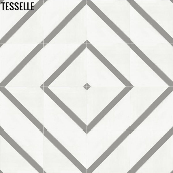 "Neoterra Icicle 8"" Square Cement Tile"