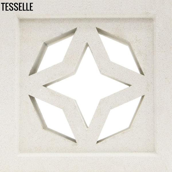 "North Star Lily White 7.5"" Cement Breeze Block"