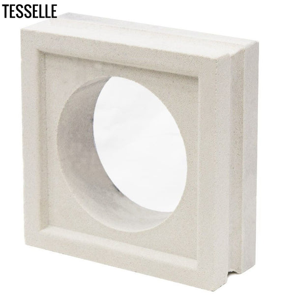 "Orb Lily White 7.5"" Cement Breeze Block3"