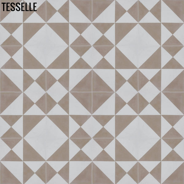 "Origami 8"" Square Cement Tile - Sandcliff 4x4"