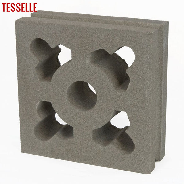 "Ornament Natural Cement 7.5"" Breeze Block 