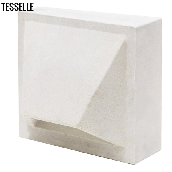 "Pali Dimensional Lily White 7.5"" Cement Breeze Block"
