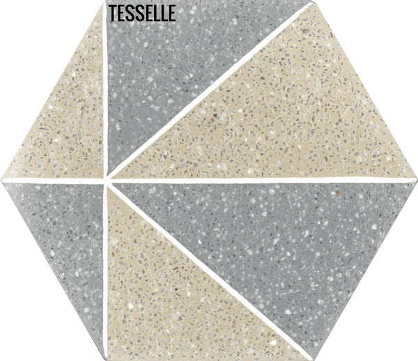 "Pinnacle Cliffside 9x8"" Hexagonal Cement Tile"