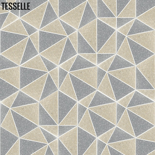 "Pinnacle Cliffside 9x8"" Hexagonal Cement Tile Layout B"