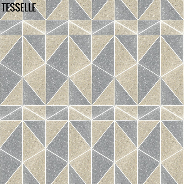 "Pinnacle Cliffside 9x8"" Hexagonal Cement Tile Layout C"